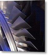 Aircraft Engine Fan Blades. Metal Print