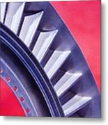 Aircraft Engine Fan Component Metal Print by Mark Williamson