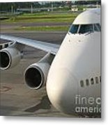Aircraft Nose And Wing Metal Print