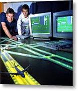 Airfield Lighting Simulation Metal Print
