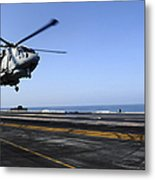 Airman Directs An Eh-101 Merlin Metal Print