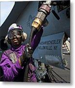 Airman Fuels An Fa-18c Hornet Metal Print