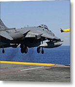 Airman Gives The Thumbs-up Signal As An Metal Print