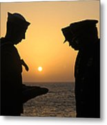 Airman Presents Commanding Officer Metal Print