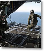 Airmen Wait For The Signal To Deploy Metal Print