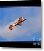Airplane In Flight Metal Print