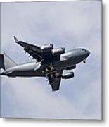 Airplane In The Sky Metal Print