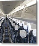 Airplane Seating Metal Print