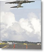Airplane Taking Off Metal Print