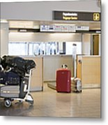 Airport Baggage Area Metal Print