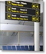Airport Directional Signs Metal Print