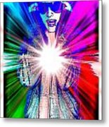 Ajay In Abstract Metal Print