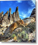 Alabama Hills Granite Fingers Metal Print by Bob Christopher
