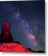 Alabama Hills Tower And Milky Way Metal Print by Bill Wight CA