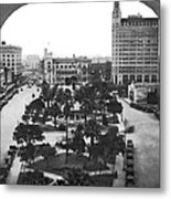 Alamo Plaza In San Antonio Metal Print