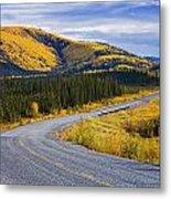 Alaska Highway Near Beaver Creek Metal Print