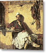 Albanian Sentinel Resting Metal Print