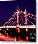 Albert Bridge London Metal Print