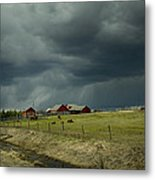 Alberta Stormy Weather Metal Print