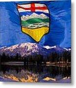 Albertas Rocky Mountains Metal Print
