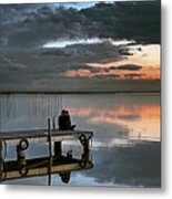 Albufera. Couple. Valencia. Spain Metal Print