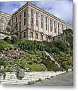 Alcatraz Cell House West Facade Metal Print