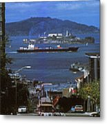 Alcatraz From San Fran Hilltop Metal Print by Paul W Faust -  Impressions of Light