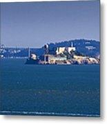 Alcatraz Island In San Francisco Bay Metal Print