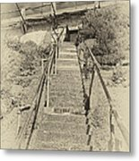 Alcatraz Two-way Work Staircase Metal Print