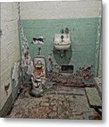Alcatraz Vandalized Cell Metal Print