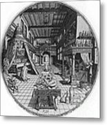 Alchemists Laboratory, 1595 Metal Print by Science Source