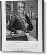 Alessandro Volta, Italian Physicist Metal Print by Omikron