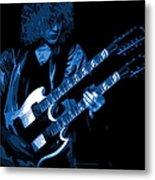 Doubleneck Spokane 1978 Blue Metal Print