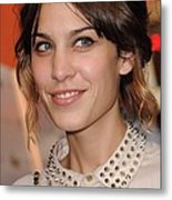 Alexa Chung At Arrivals For Inglourious Metal Print