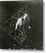 Alexander Graham Bell And Mabel Kissing Metal Print