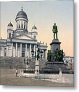 Alexander II Memorial At Senate Square In Helsinki Finland Metal Print