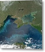Algal Blooms In The Black Sea Metal Print