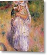 Algerian Woman And Child Metal Print