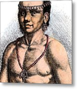Algonquian Man, 1645 Metal Print