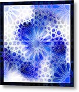 Alhambra Pattern Blue Metal Print