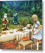Alice In Wonderland Metal Print by Jutta Maria Pusl