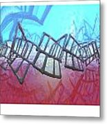 Alien Fence Over The Red Sea Metal Print