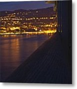 Alien Spacecraft Over Villefranche Metal Print
