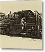 All Aboard Antique Metal Print