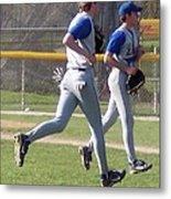 All Air Baseball Players Running Metal Print