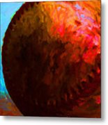 All American Pastime - Baseball Version 3 - Painterly Metal Print