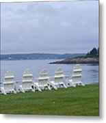 All In A Row In Maine Metal Print