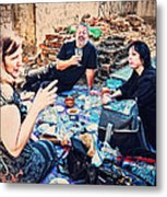 All Saints Day Cemetery Picnic New Orleans Metal Print