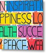 All The Happy Words Metal Print