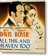 All This And Heaven Too, Charles Boyer Metal Print
